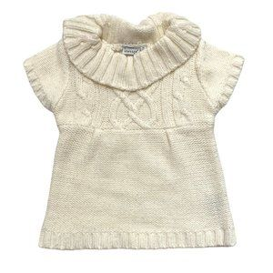 Influx Cream Collared Cable Knit Dress